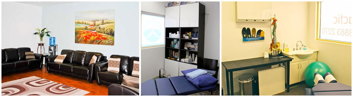 Chiropractic therapy rooms in Rouse Hill for relief of pain, sore shoulders, stiffness